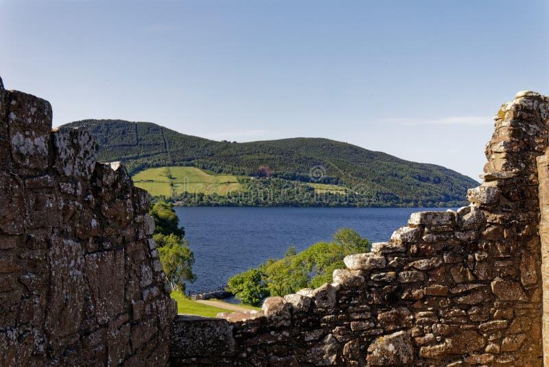 Urquhart Schloss auf Loch Ness, Schottland stockfoto