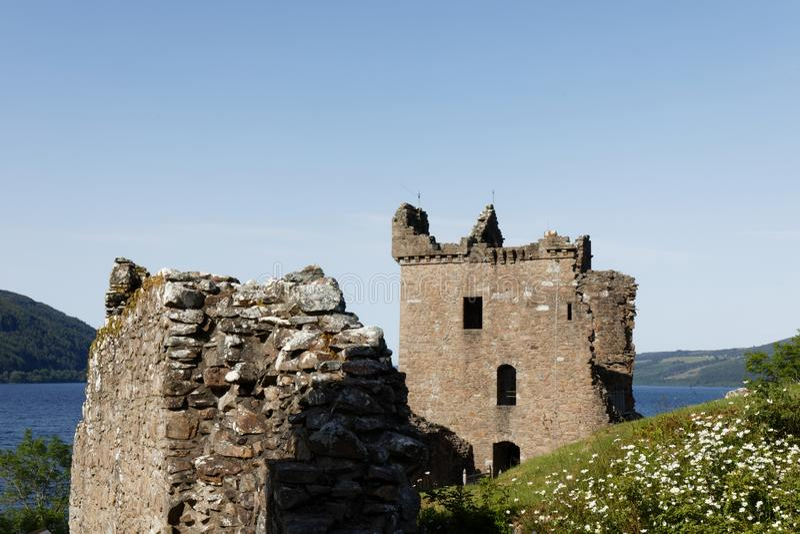Urquhart Schloss auf Loch Ness, Schottland stockfotografie