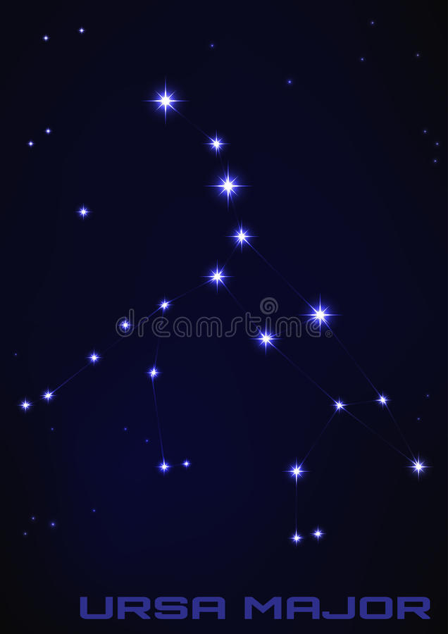ursa созвездия главное иллюстрация штока