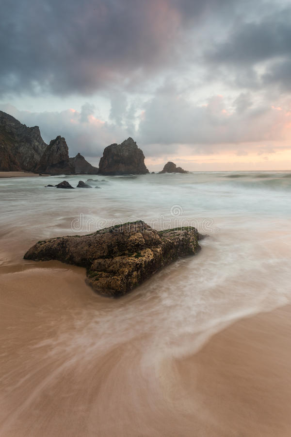 Ursa Beach Lonely Rock royalty-vrije stock foto