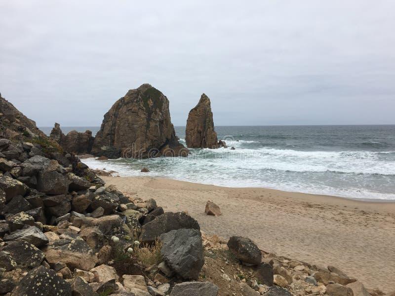 Ursa Beach - Portugal fotos de stock