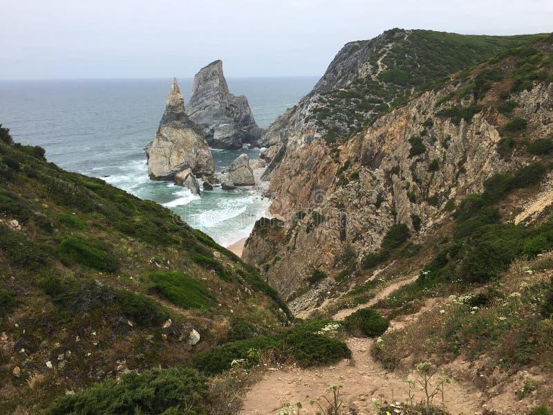 Ursa Beach - Portugal imagens de stock