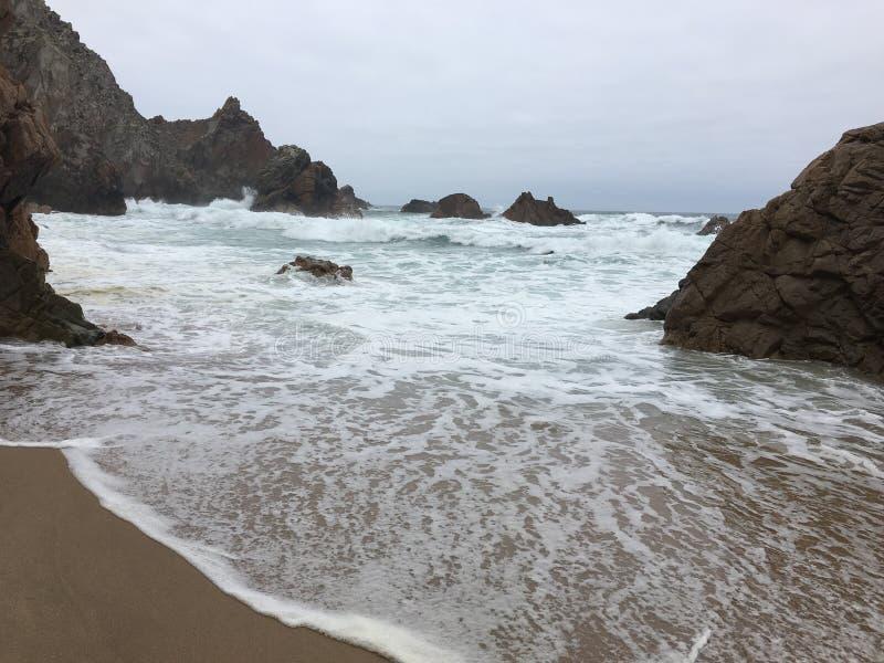 Ursa Beach - Portugal imagem de stock