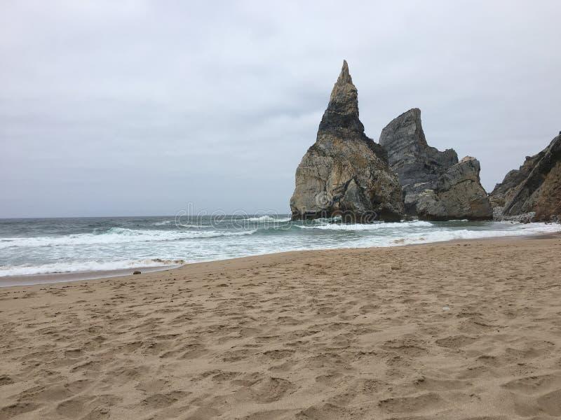 Ursa Beach - Portugal fotografia de stock