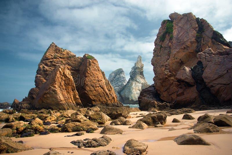 Ursa Beach Rocks fotos de archivo