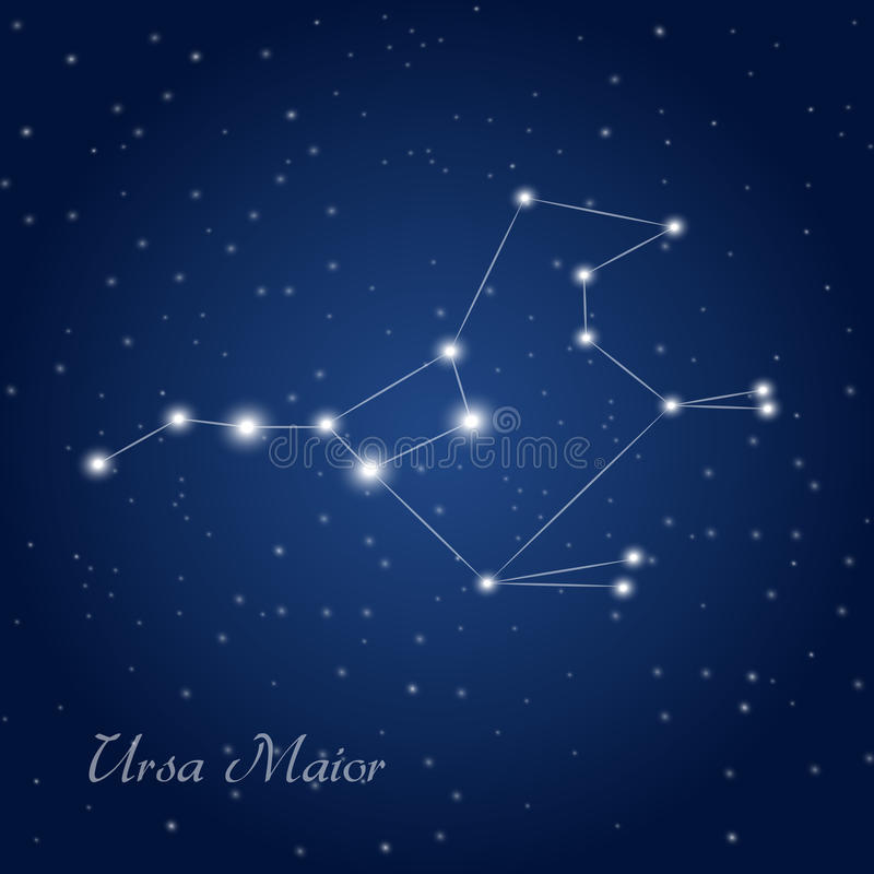 Ursa maior royaltyfri illustrationer