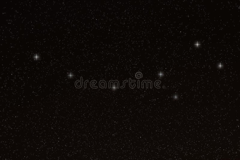 Ursa Minor, peu de constellation de Dipper, peu d'ours photo stock