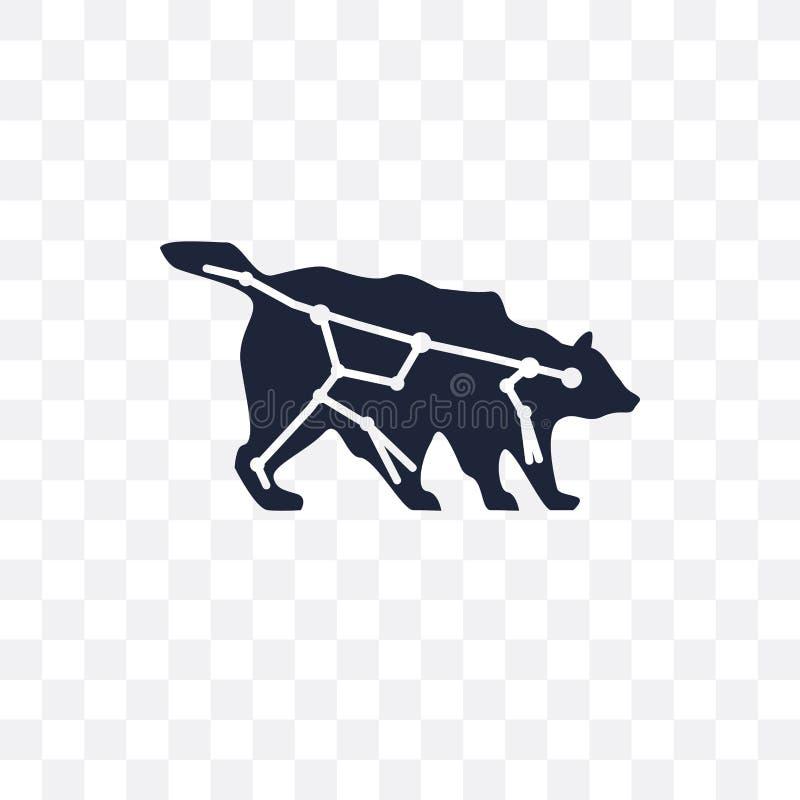 Ursa viktig genomskinlig symbol Ursa viktig symboldesign från Astro stock illustrationer