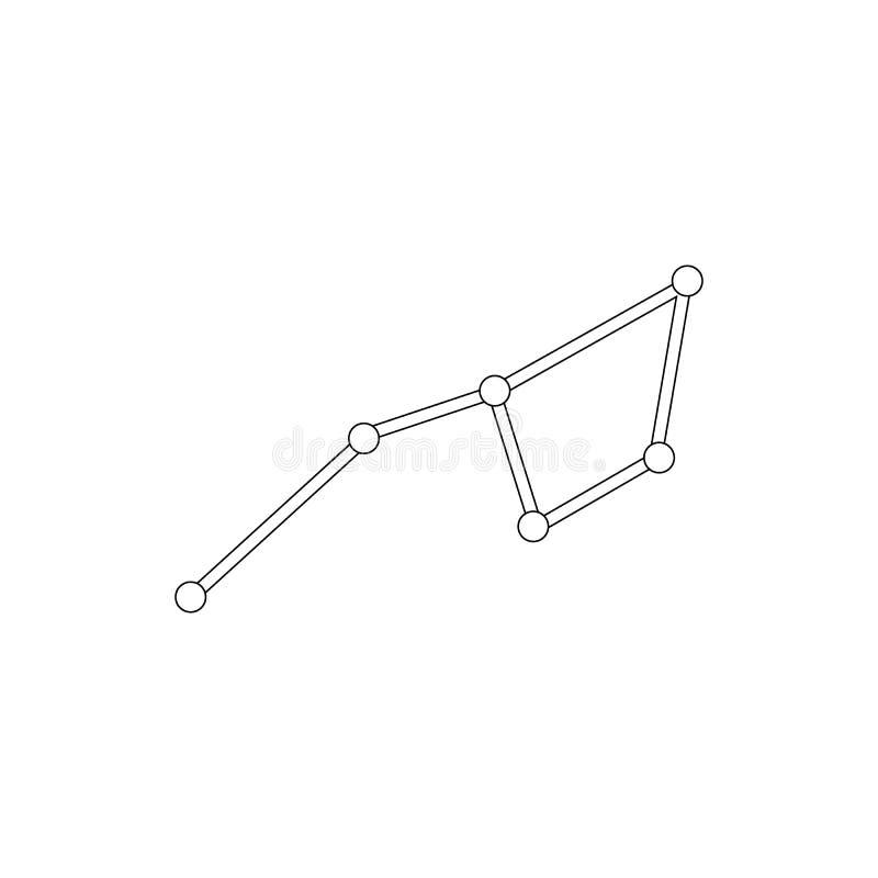 Ursa viktig konstellationsymbol, isometrisk stil 3d royaltyfri illustrationer