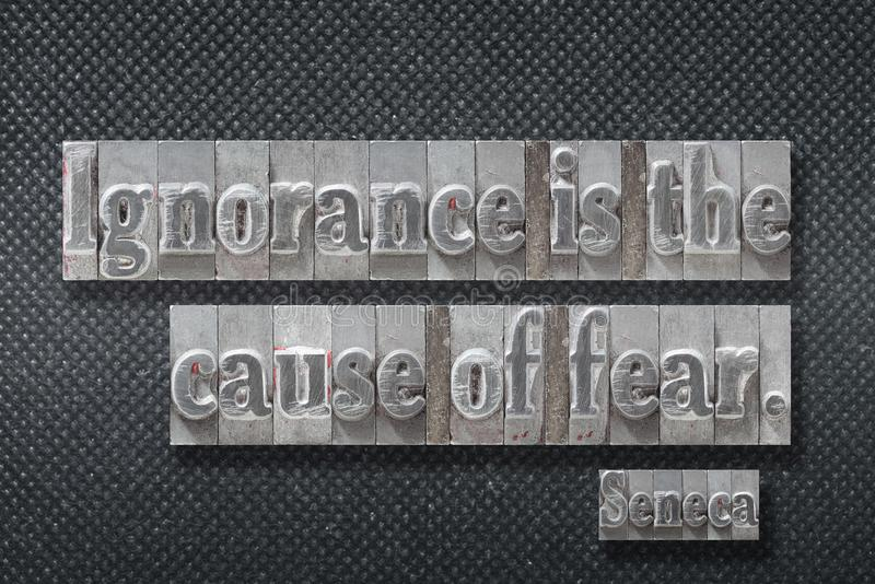 Ursache von Furcht Seneca lizenzfreies stockfoto