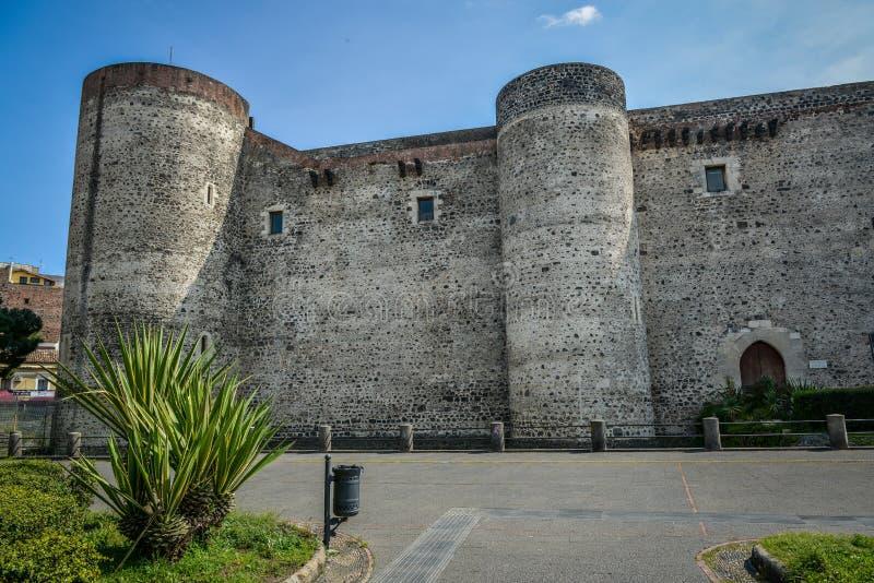 Ursino城堡在卡塔尼亚西西里岛 免版税库存照片