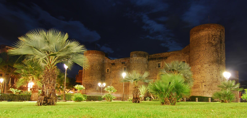 Ursino Castle / Sicily royalty free stock photo