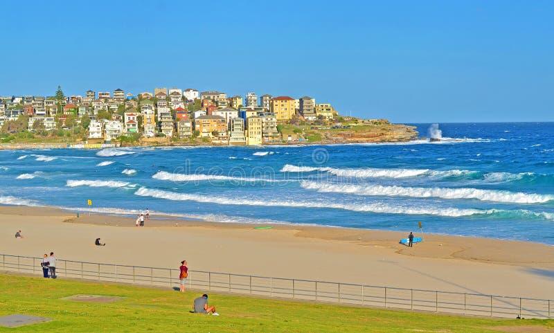 Ursnygg berömd Bondi strand i Sydney, Australien fotografering för bildbyråer