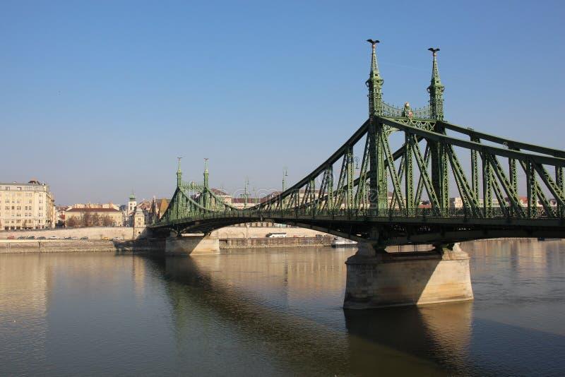 Ursnygg frihetbro i Budapest, Ungern royaltyfria foton