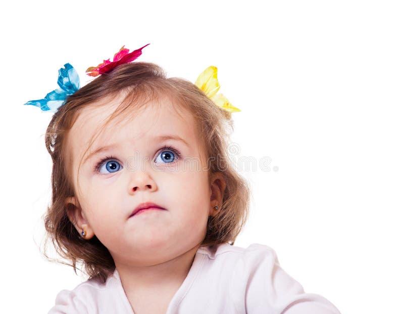 Ursnygg liten flicka royaltyfria foton