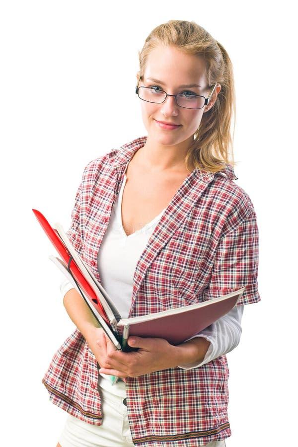 Ursnygg säker ung deltagarekvinna. royaltyfria bilder