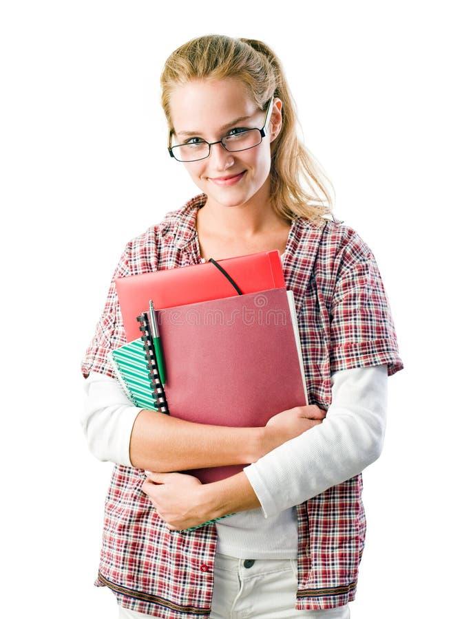 Ursnygg säker ung deltagarekvinna. royaltyfri fotografi