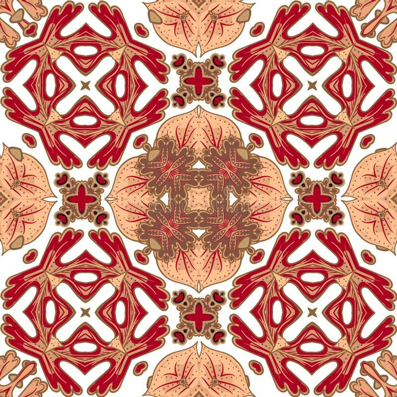 Ursnygg sömlös patchworkmodell från färgrika marockanska tegelplattor, prydnader Kan användas för tapeten, modellpåfyllningar vektor illustrationer