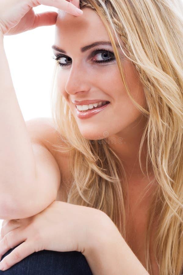 Ursnygg sexig blond kvinna arkivfoton