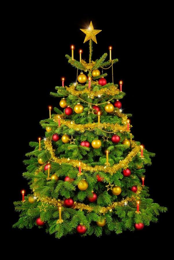 ursnygg tree för svart jul arkivbild