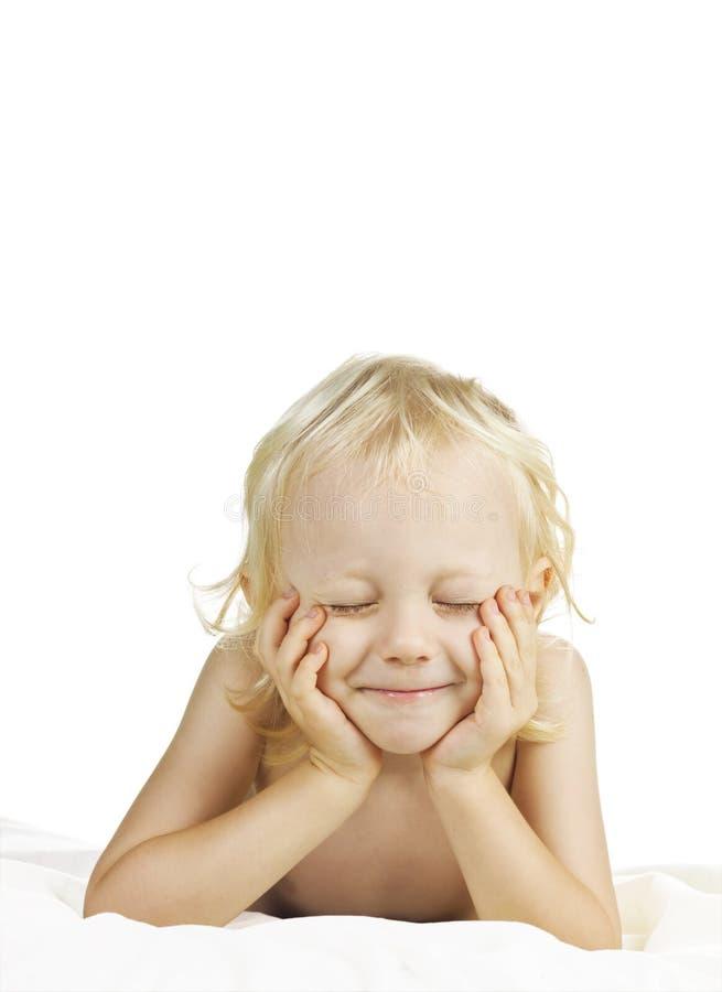 ursnyggt görande wishbarn för pojke royaltyfri fotografi