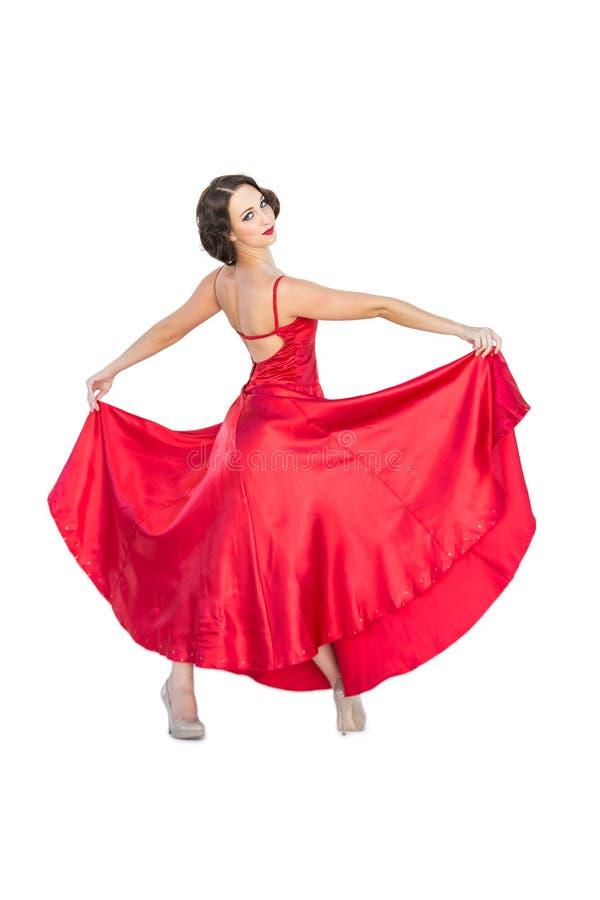 Ursnyggt posera för flamencodansare royaltyfri bild