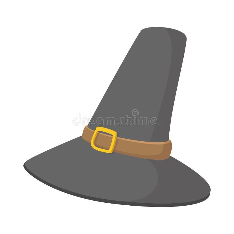 Ursnyggt vallfärda hatttecknad filmsymbolen stock illustrationer
