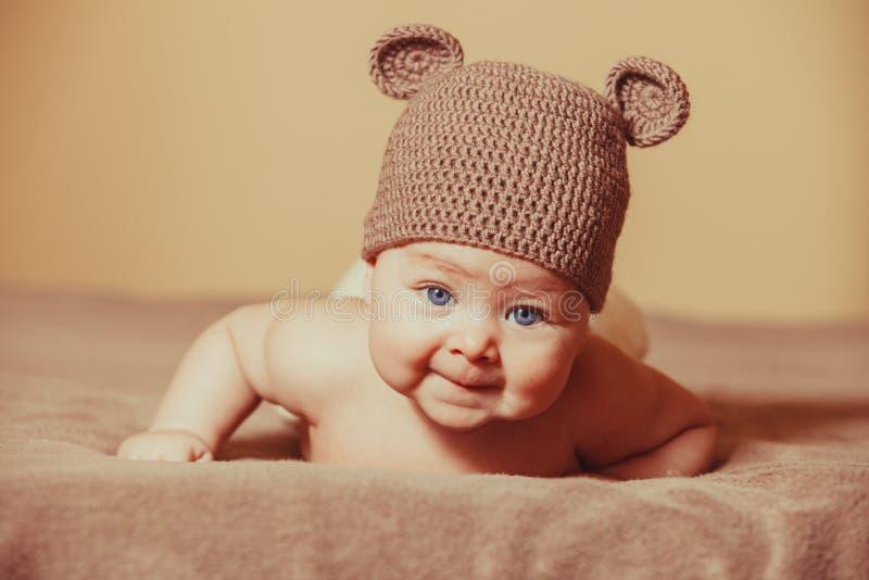 Urso adorável do bebê imagem de stock