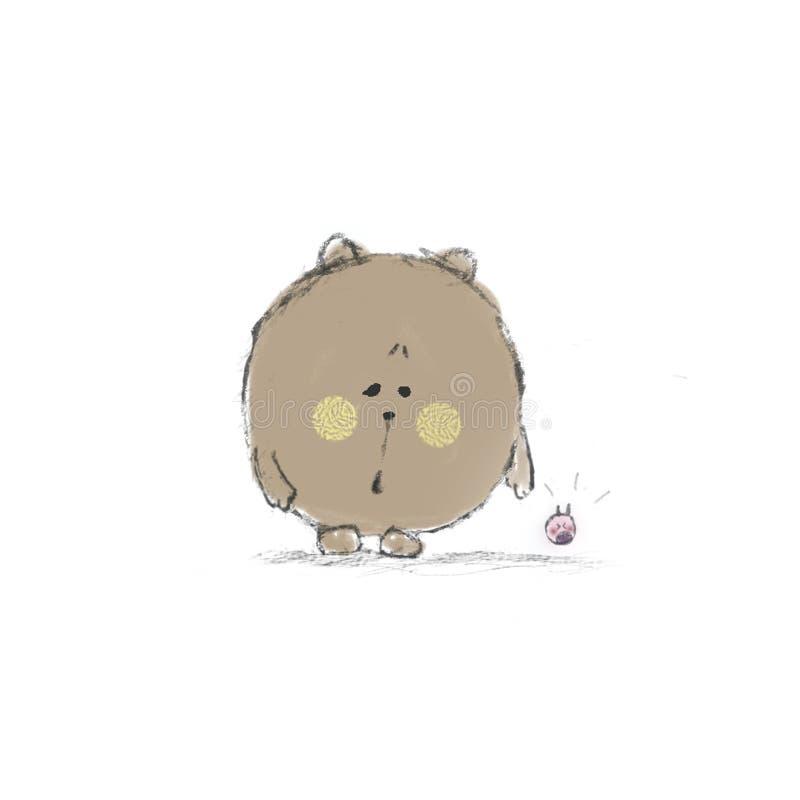 Urso alarmado e bebê gritando fotografia de stock