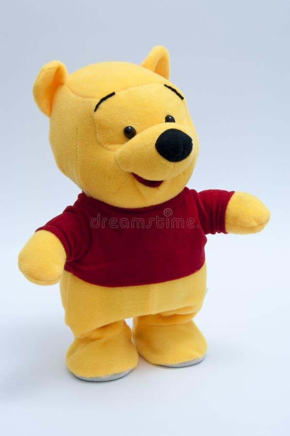 Download Urso amarelo da peluche fotografia editorial. Imagem de tela - 16869942