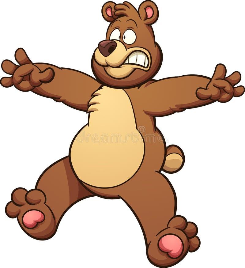 Urso assustado ilustração royalty free