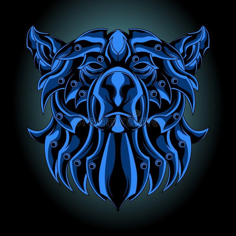 Urso azul do ferro ilustração stock