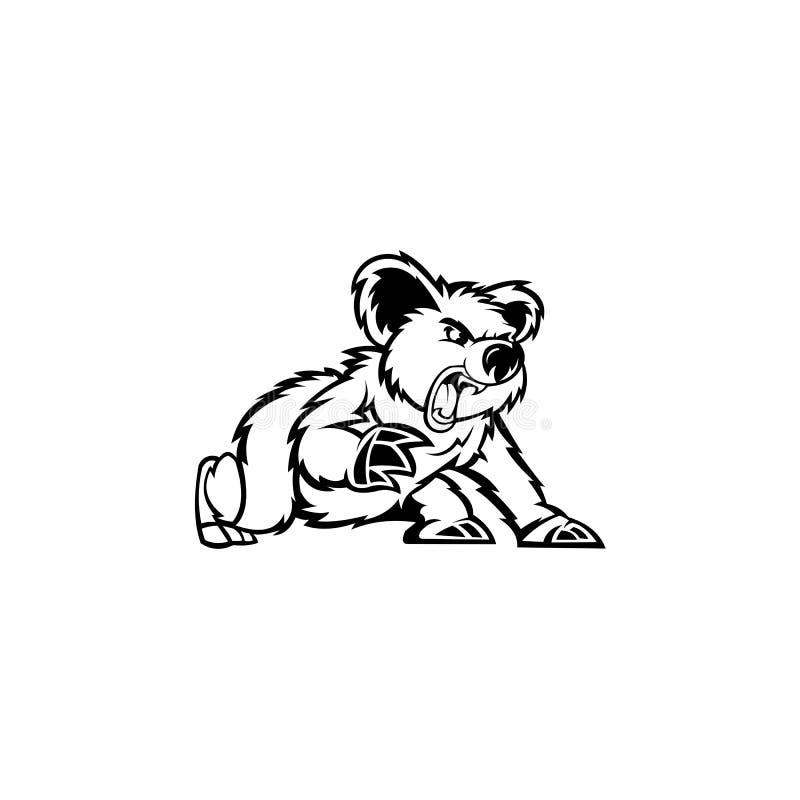 Urso bonitinho Koala, vetor ilustração stock