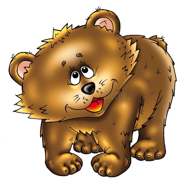 Urso bonito ilustração royalty free