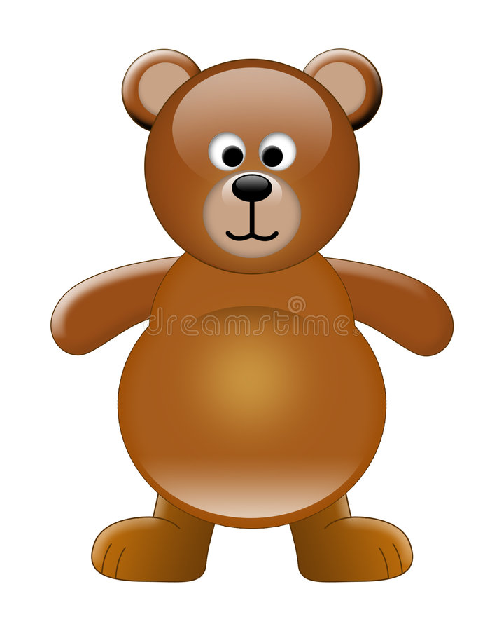 Download Urso bonito ilustração stock. Ilustração de plástico, sobre - 533962