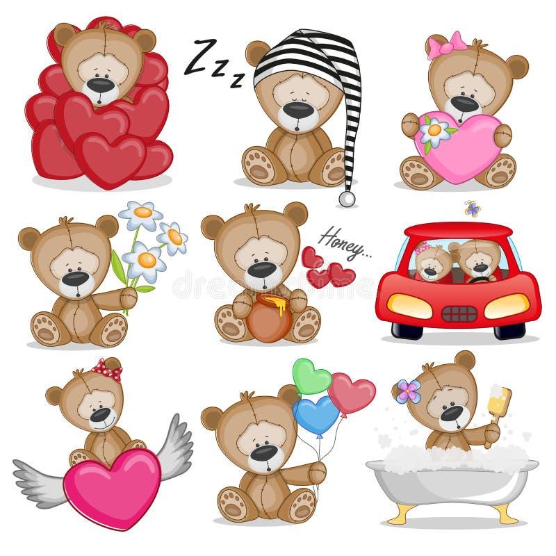 Urso bonito da peluche ilustração royalty free