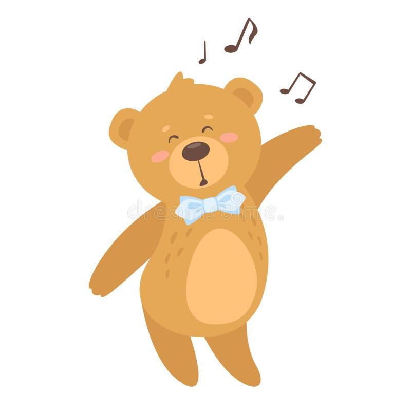 Urso bonito da peluche dos desenhos animados ilustração stock