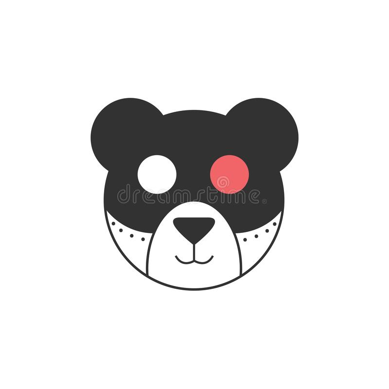 Urso bonito do robô com olho cor-de-rosa ilustração royalty free