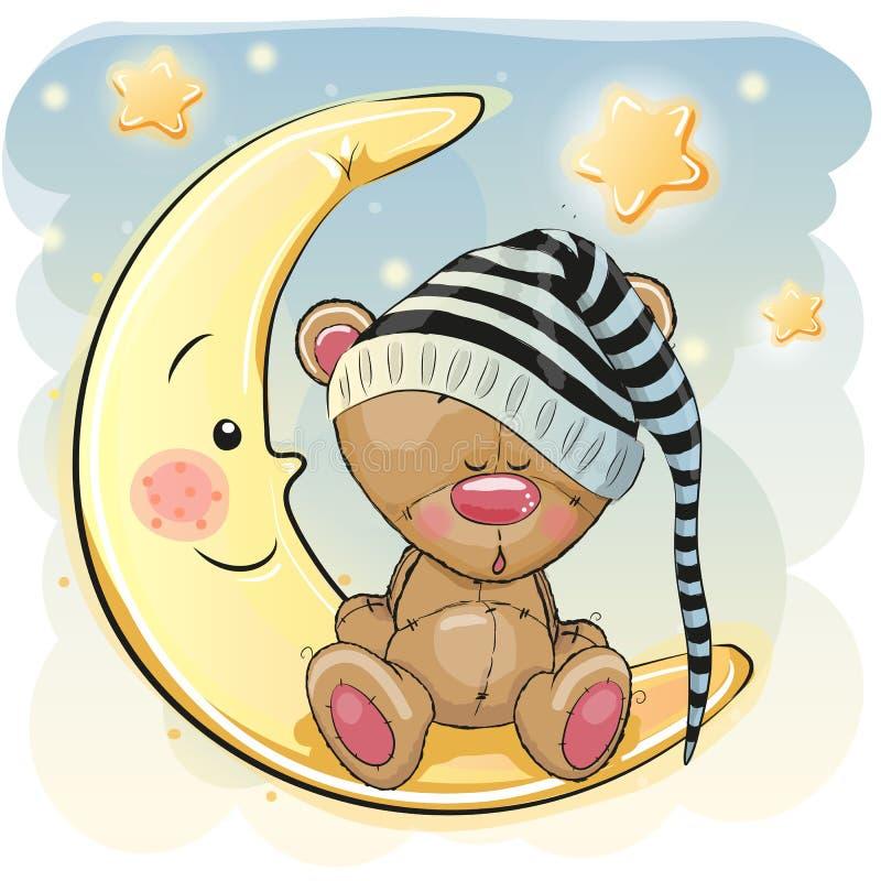 Urso bonito do sono ilustração do vetor