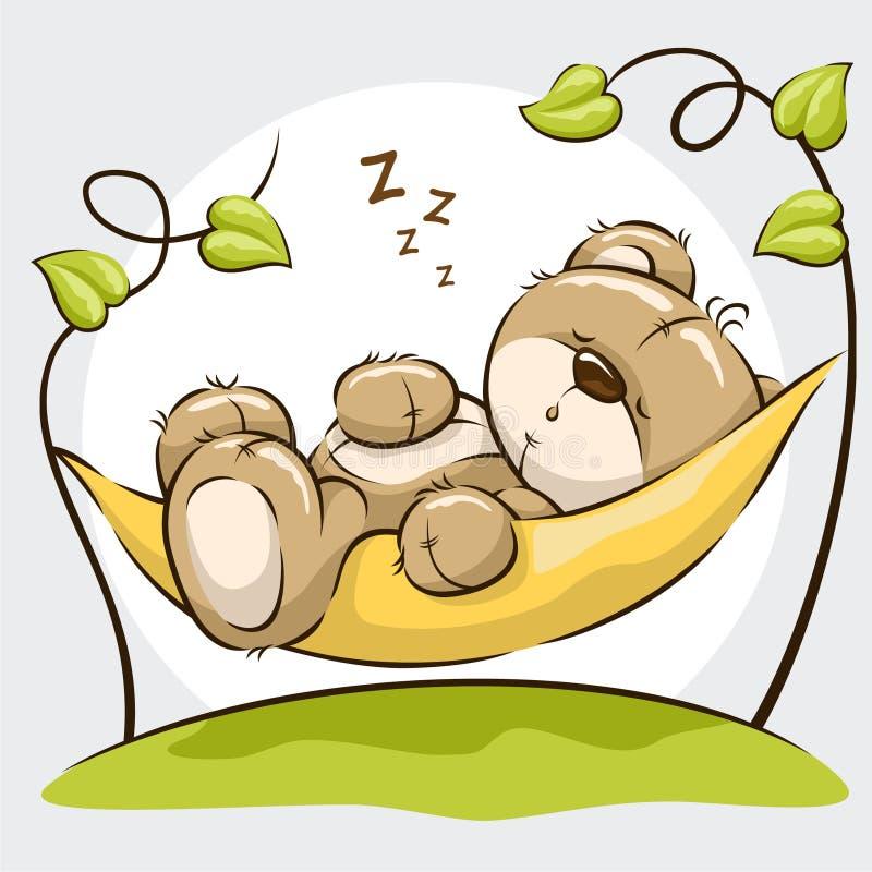 Urso bonito do sono fotografia de stock royalty free