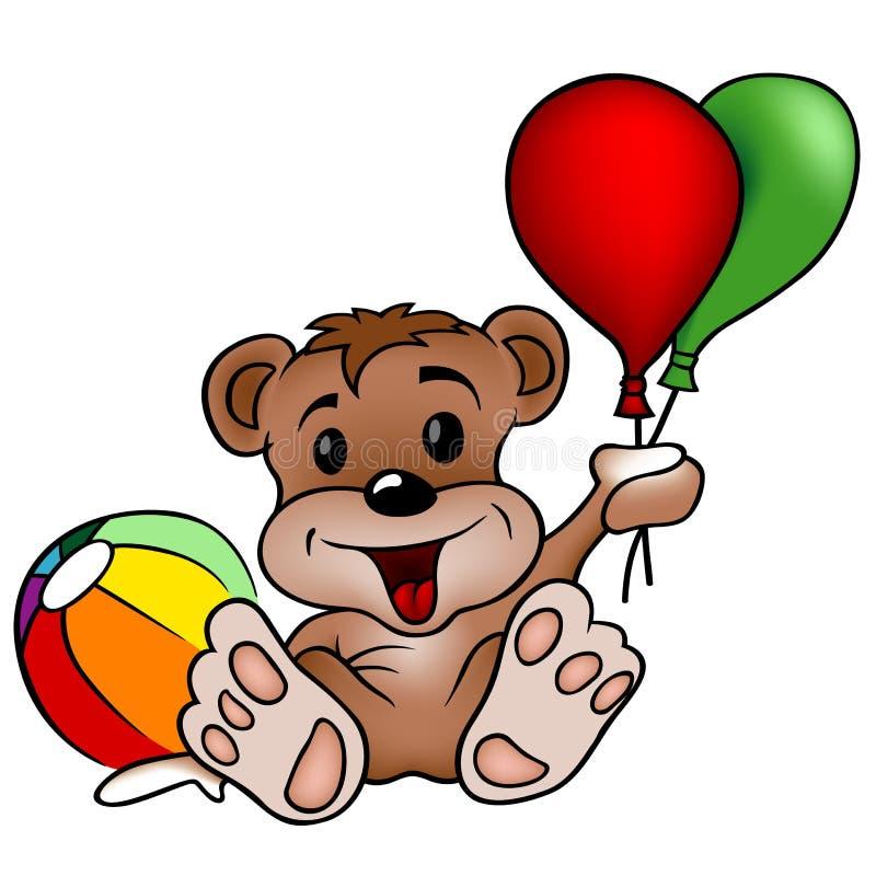 Urso com brinquedos ilustração stock