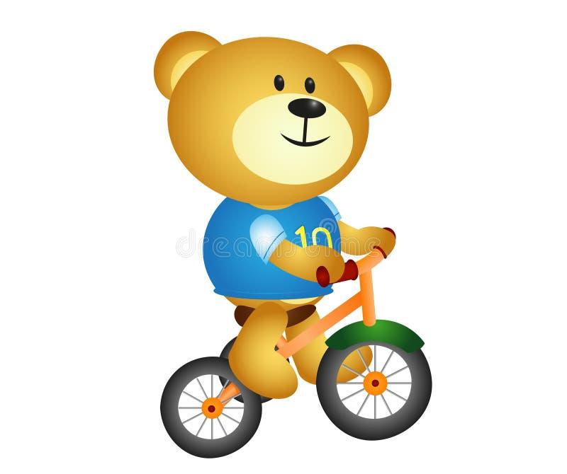 Urso com ciclo três ilustração stock
