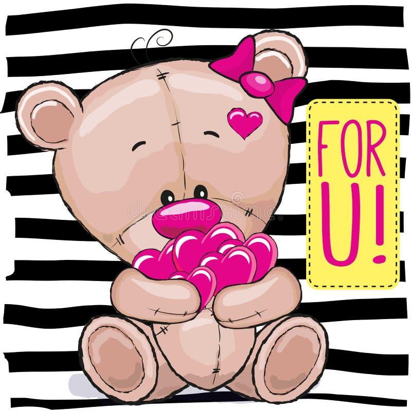 Urso com corações