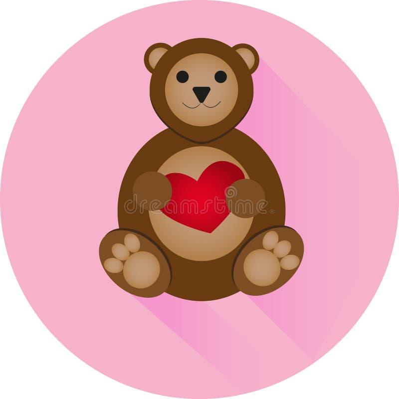 Urso com um coração imagens de stock