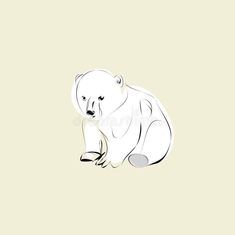 Urso Cub polar ilustração royalty free