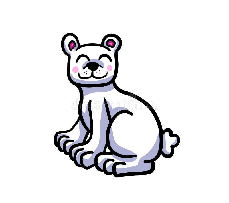 Urso Cub polar adorável ilustração royalty free