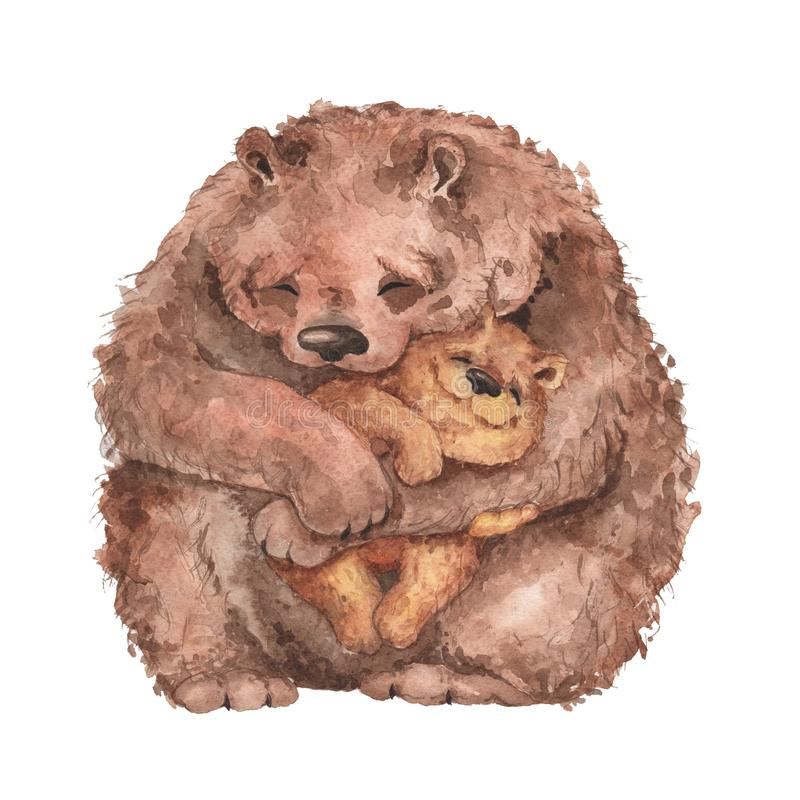 Urso da mamãe e urso do bebê ilustração royalty free