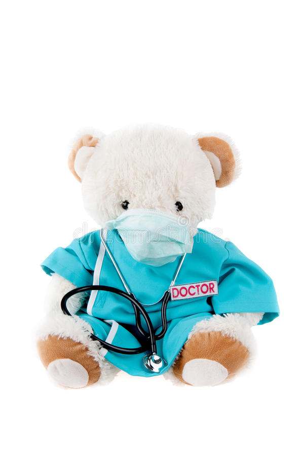 Urso da peluche como um doutor imagens de stock