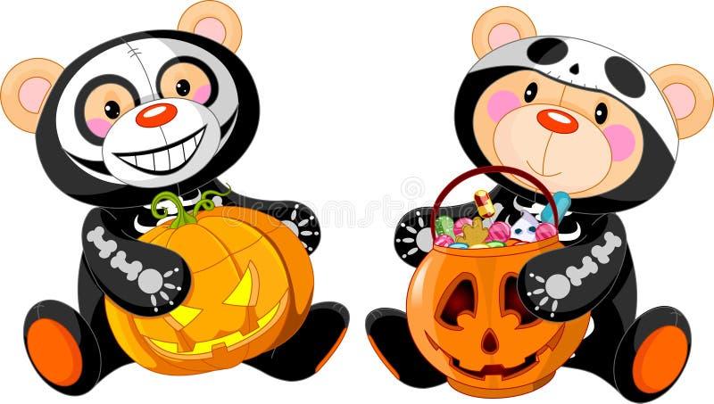 Urso da peluche de Halloween ilustração stock