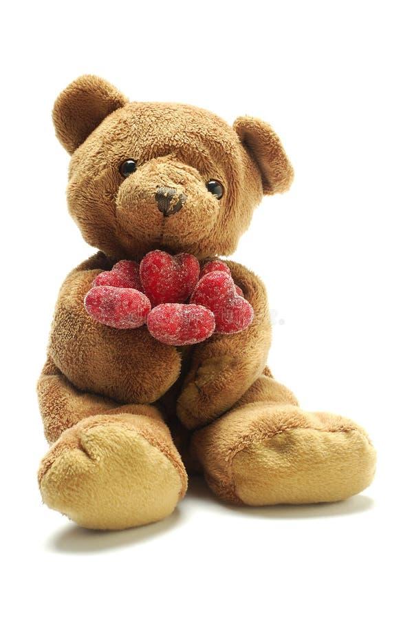 Urso da peluche no amor foto de stock